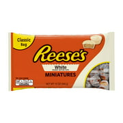 Reese's White Peanut Butter Miniatures Candy, 12 Oz.