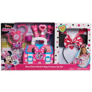 Disney Junior Minnie Mouse Bow-Care Doctor Bag and Dress Up Set, 10 piece pretend play doctor set, Role Play, Ages 3 Up, by Just Play