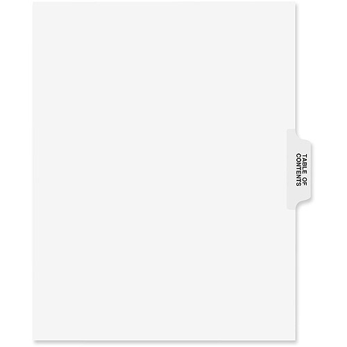Avery Collated Side Tab Table of Contents Dividers