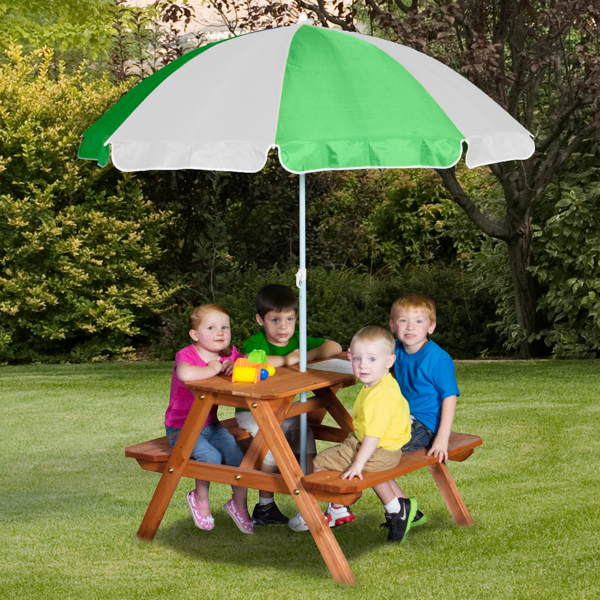 Backyard Discovery Wooden Picnic Table   Walmart.com