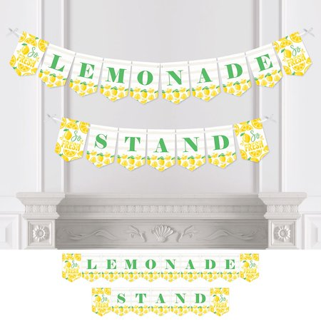 So Fresh - Lemon - Citrus Lemonade Party Bunting Banner - Party Decorations - Lemonade Stand  - Expand Banner Stand