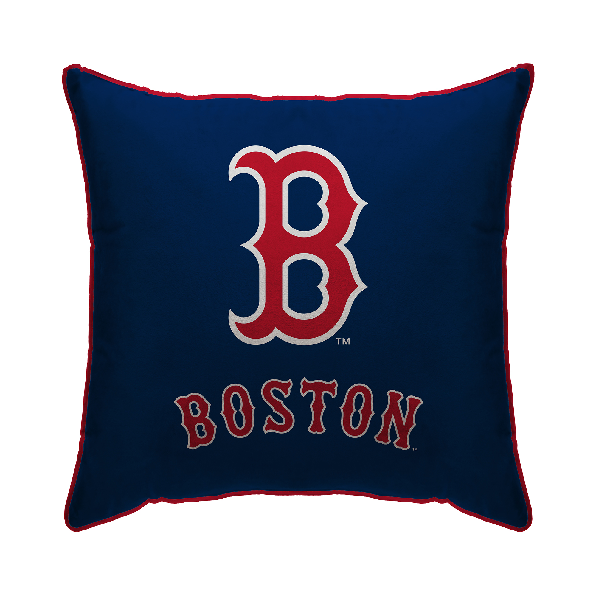 "Boston Red Sox 18"" x 18"" Plush Team Logo Decorative Throw Pillow - Blue - No Size"