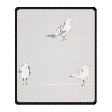 559 Sofa - CADecor Seagull Blanket Fleece Throw Blanket for Sofa or Bed 58x80 inches