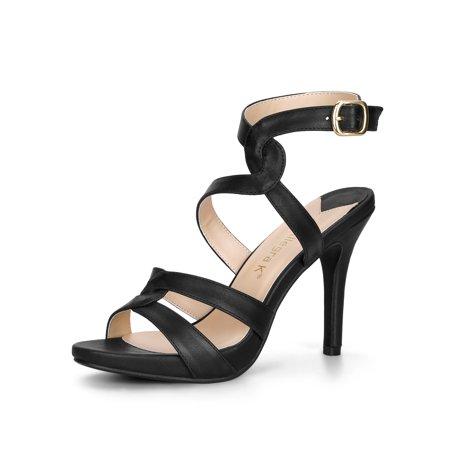 Women's Strappy Platform Stiletto Heel Sandals ()