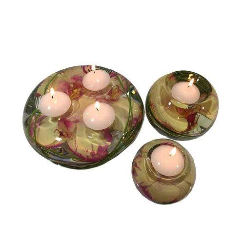 Bloomsbury Market Phalaenopsis Orchid Glass Tealight (Set of 3)