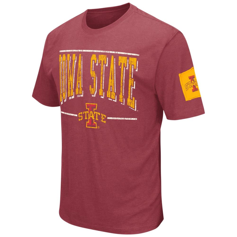 Iowa State Cyclones Men's T-Shirt Short Sleeve Distressed Tee