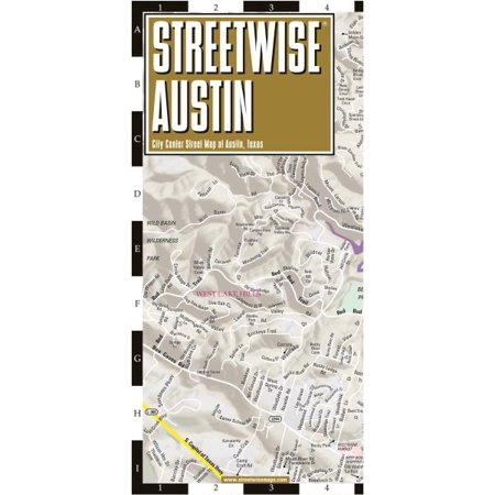 Michelin Streetwise Maps: Streetwise Austin Map: Laminated City Center Map of Austin, Texas (Other) - Costume World Austin Texas