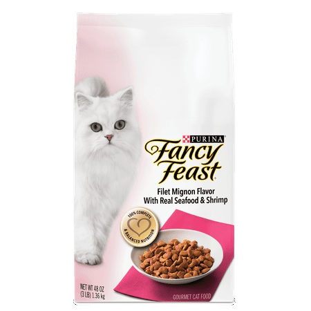 Purina Fancy Feast Filet Mignon Flavor With Real Seafood & Shrimp Dry Cat Food - 3 lb. Bag