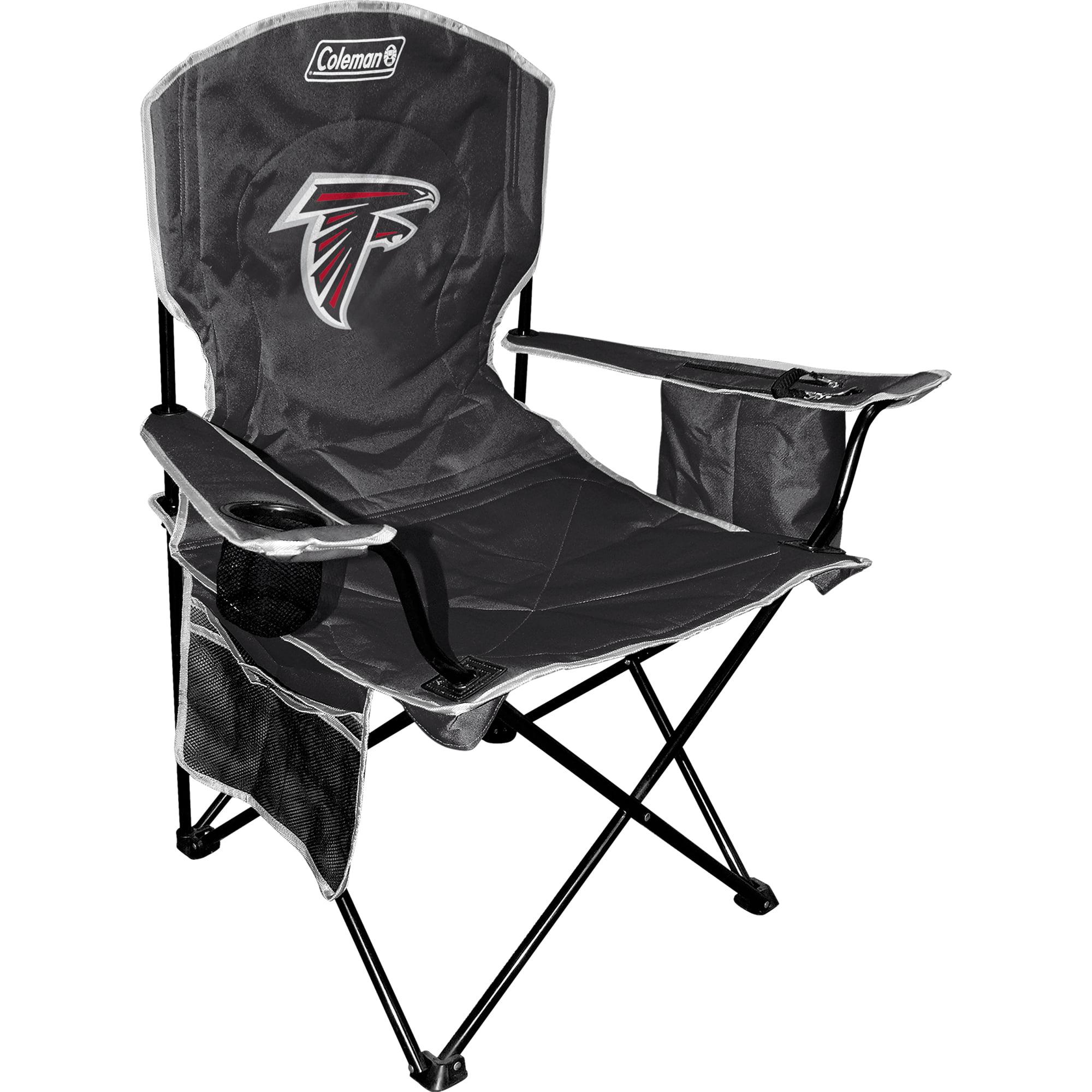 Atlanta Falcons Coleman Cooler Quad Chair - Black - No Size