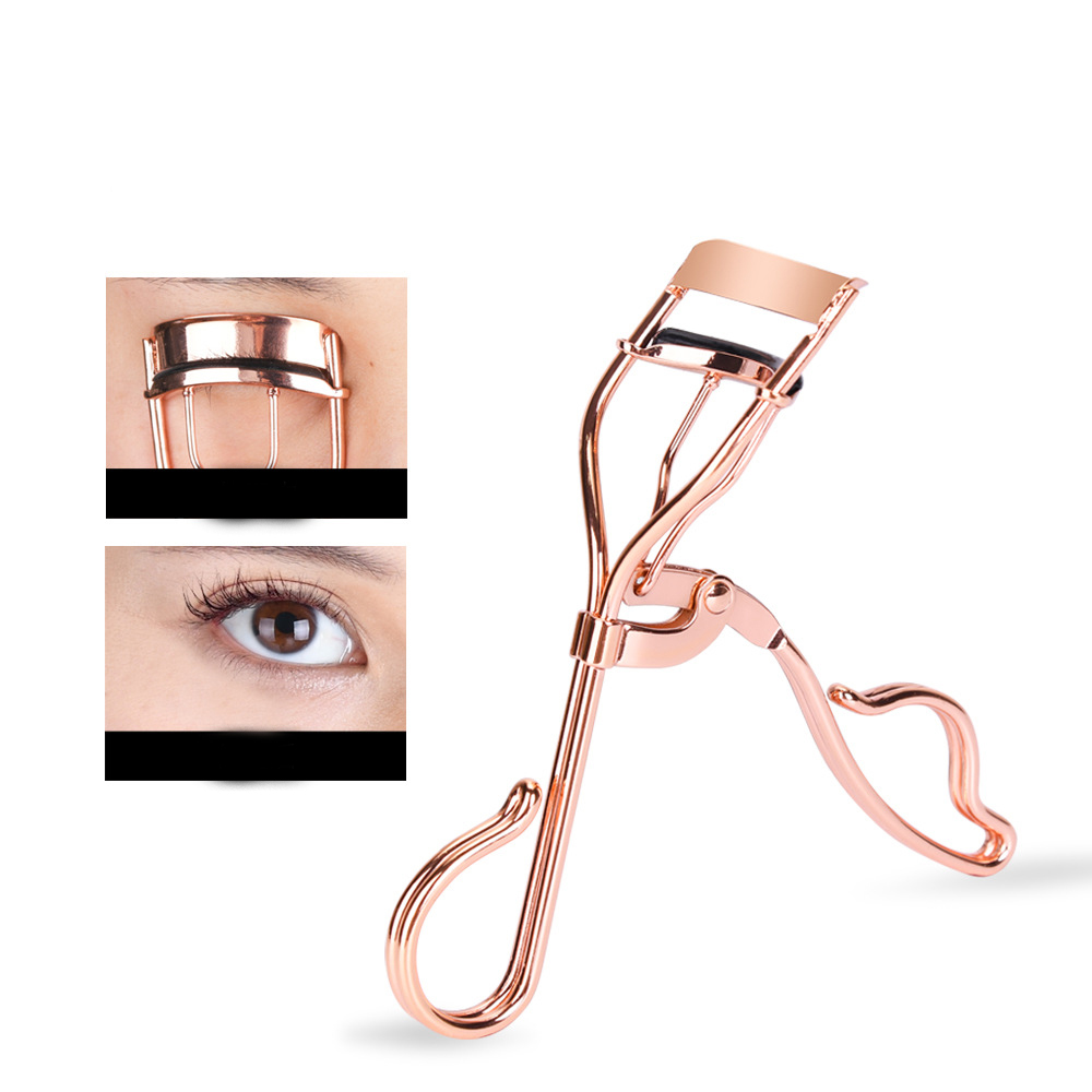 Eyelash Curler - With Satin Bag & Refill Pads - No Pinching, Just Dramatically Curled Eyelashes & Lash Line in Seconds.