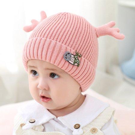 b33a2c7cf4578 Christmas Newborn Baby Boy Girl Deer Hat Winter Warm Knit Crochet Beanie Cap  - Walmart.com