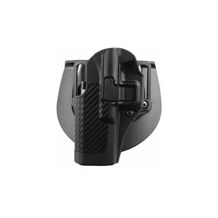 BlackHawk CQC SERPA Holster with Belt and Paddle Attachment fits Sig 220/226/228/229, Left Hand, Carbon Fiber, Black
