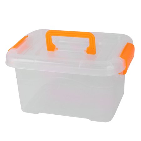 Home Plastic Sundries Snacks Cosmetic Socks Storage Box Organizer Holder Orange
