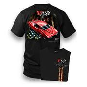Corvette Shirt - Patriotic Corvette - Corvette C2 - Split Window, Black