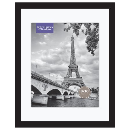 "Better Homes & Gardens 11"" x 14"" Wide Float Picture Frame, Black Finish"