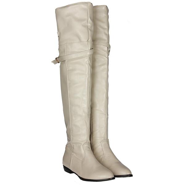 Women Winter Shoes Flat Heel Buckle