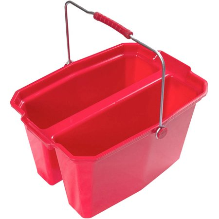 Quart Red Bucket - Laitner Brush Company 19 Quart Double Mop Bucket, Red