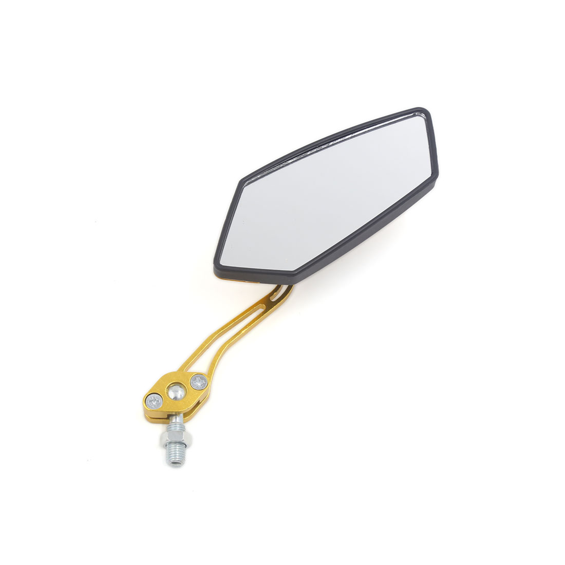 Pair Universal Pentagon Shaped Rearview Mirrors 10mm Thread Dia for Motorcycle - image 1 of 4