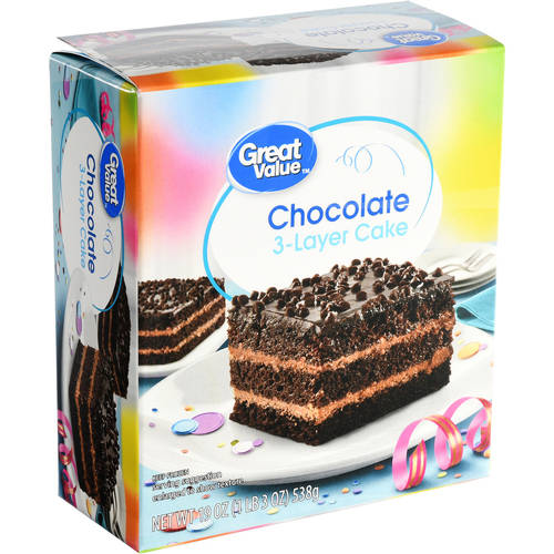 Great Value Chocolate 3-Layer Cake, 19 oz