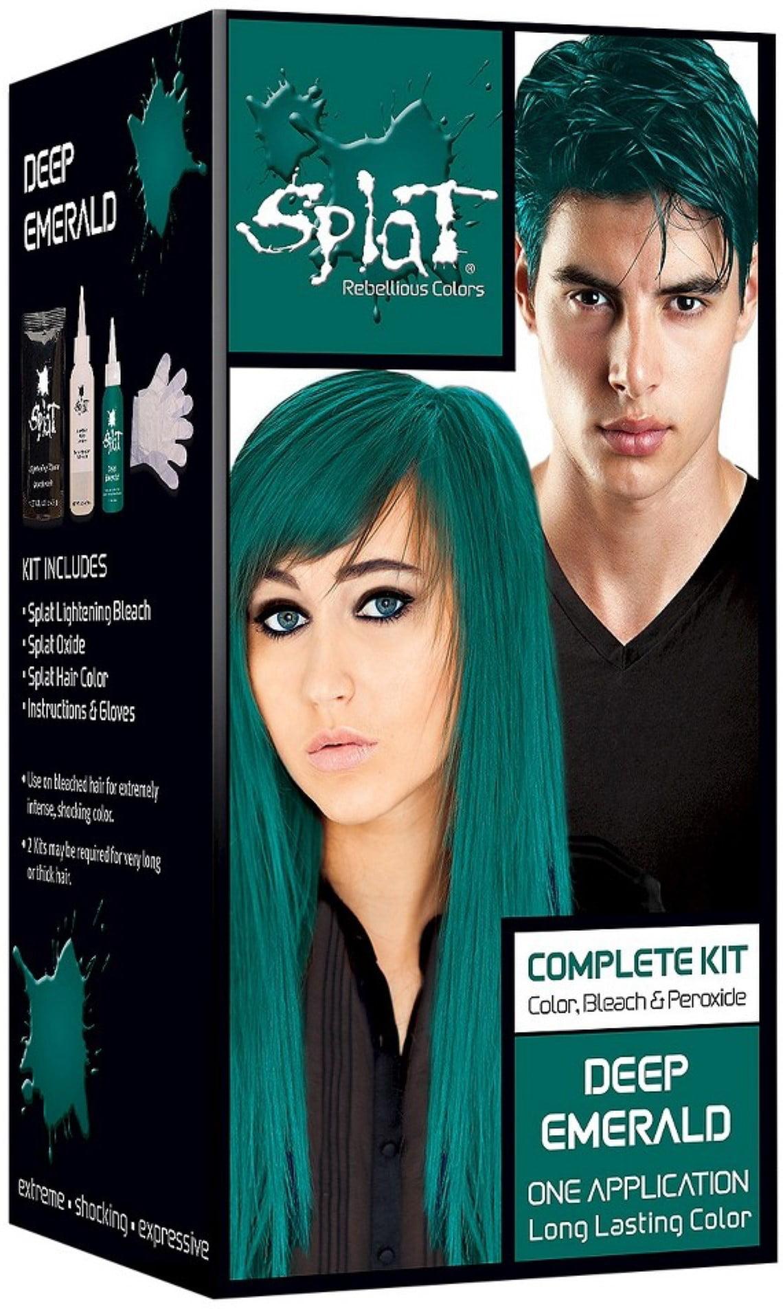 Splat Rebellious Colors Hair Coloring Complete Kit Deep Emerald 1 Ea Pack Of 3