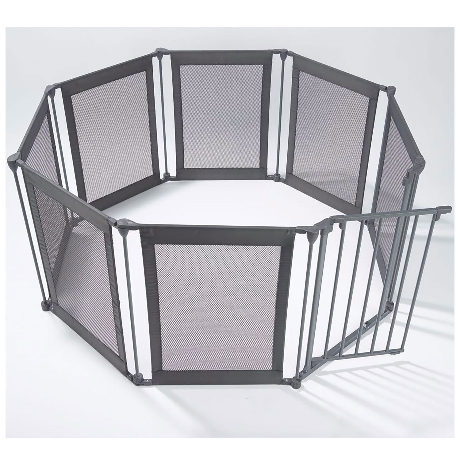 One Step Ahead Mesh Play Pen with Safety Gate Indoor and Outdoor, Portable Folds and Locks by One Step Ahead