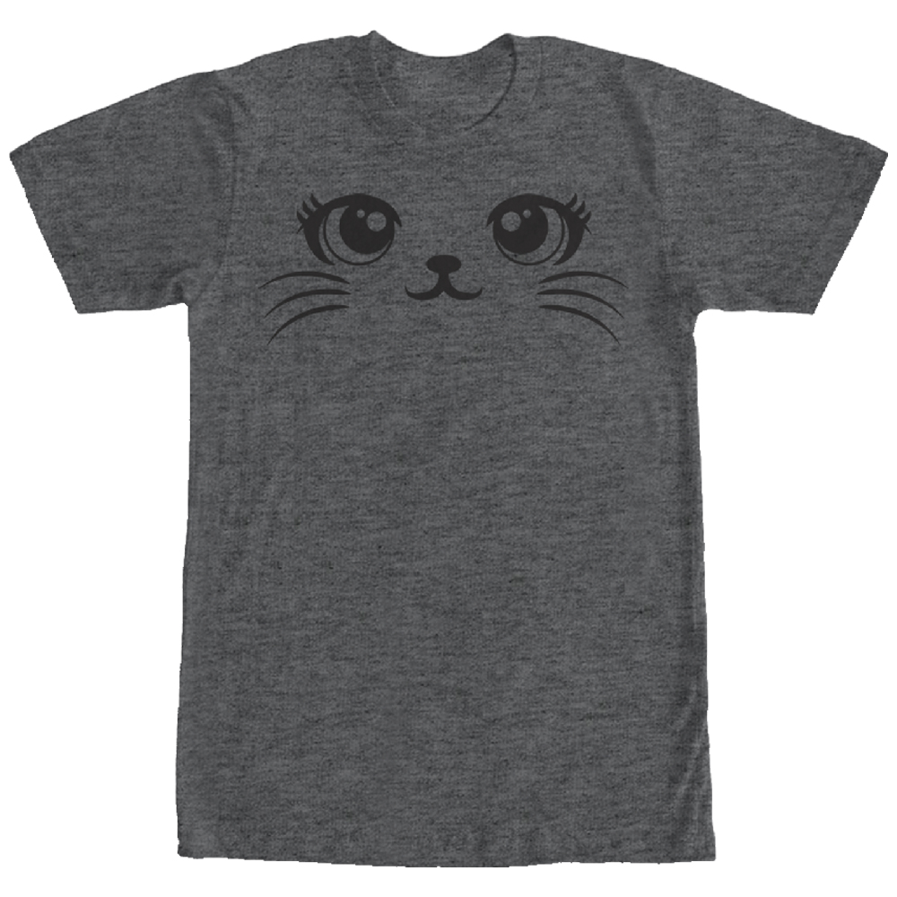 Lost Gods Cute Cat Face Mens Graphic T Shirt