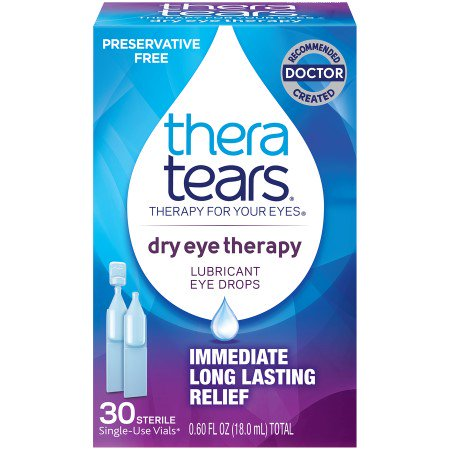 TheraTears Lubricant Eye Drops Dry Eye Therapy Preservative Free, (Eye Drops For Dry Eyes Without Preservatives)