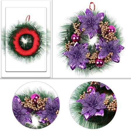 Christmas Wall Hanging (Christmas Wreath Decor For Xmas Party Door Wall Hanging Garland Ornament 30CM )