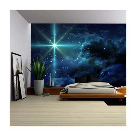 wall26 - The Starry Night - Removable Wall Mural | Self-Adhesive Large Wallpaper - 66x96 inches](Halloween Night Wallpaper)