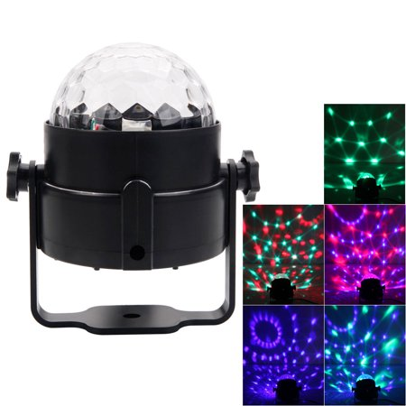 Zimtown Party Disco Ball Projector Light 3w Led Strobe Lamp with Remote Control 7 Color Sound Activated Stage Lighting Effect Show Wedding light bulb - Color Change Night Light (Party Strobe Light Kits)