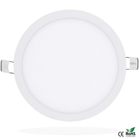 White Recessed Downlight (LEEKI 18W Recessed Downlight Ceiling Light - Cool White 5000K - Ultra Slim Design - 6