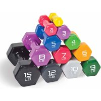 CAP Barbell Vinyl-Coated Dumbbell, Pair, 1-15 lbs
