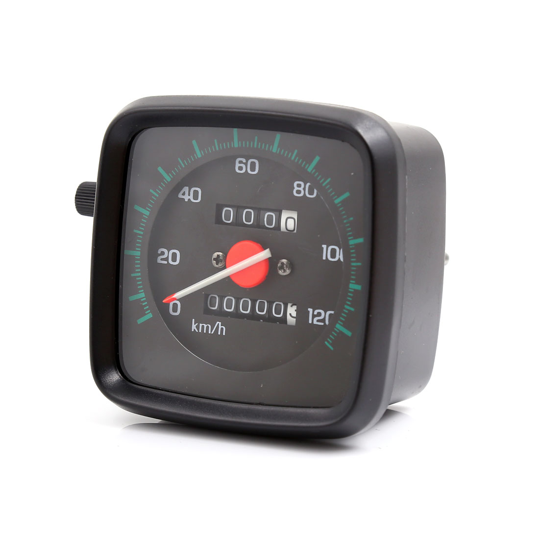 Unique Bargains 0-120km/h Square Shape Daul Odometer Speedometer Gauge for GS Motorcycle