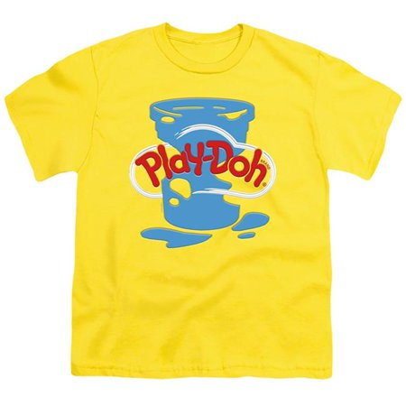 Trevco Sportswear HBRO455B-YT-1 Play Doh & Play Doh Inverted Messy-Short Sleeve 18-1 Youth T-Shirt, Yellow - Small - image 1 of 1