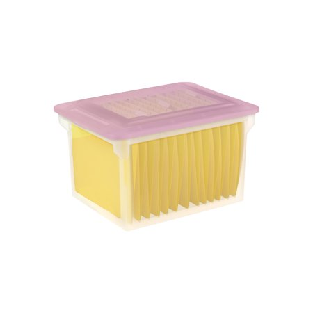 Sterilite File Box Mauve Splash