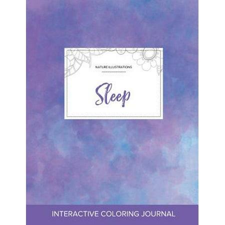 Adult Coloring Journal : Sleep (Nature Illustrations, Purple