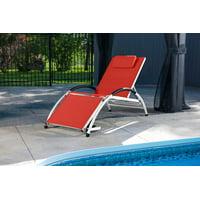 Dockside Sun Lounger - Aluminum(Cherry Red)