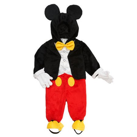 Mickey Mouse Costumes For Adults (Disney Infant & Toddler Boys Mickey Mouse Costume Jumper with Mouse Ears)