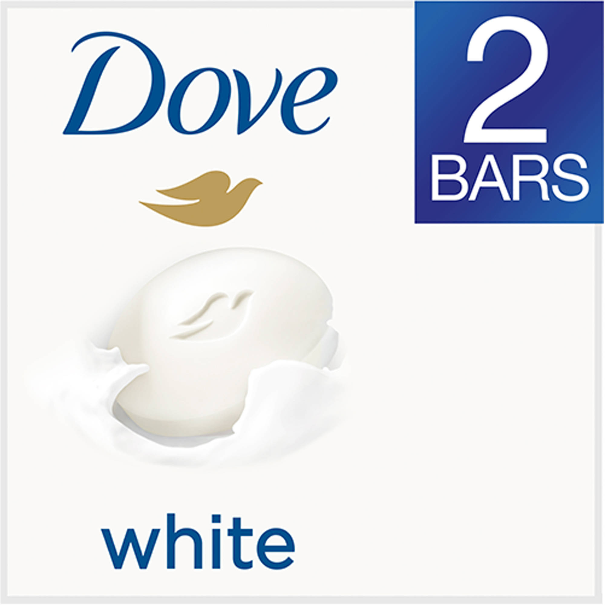 Dove White Beauty Bar, 4 oz, 2 Bar
