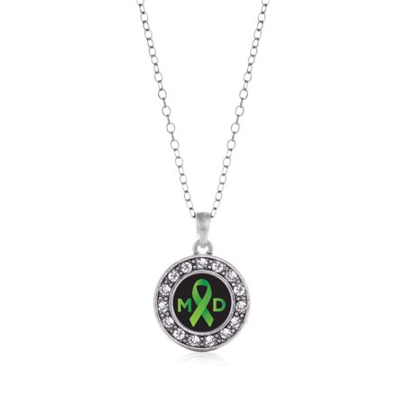Muscular Dystrophy Circle Charm Necklace