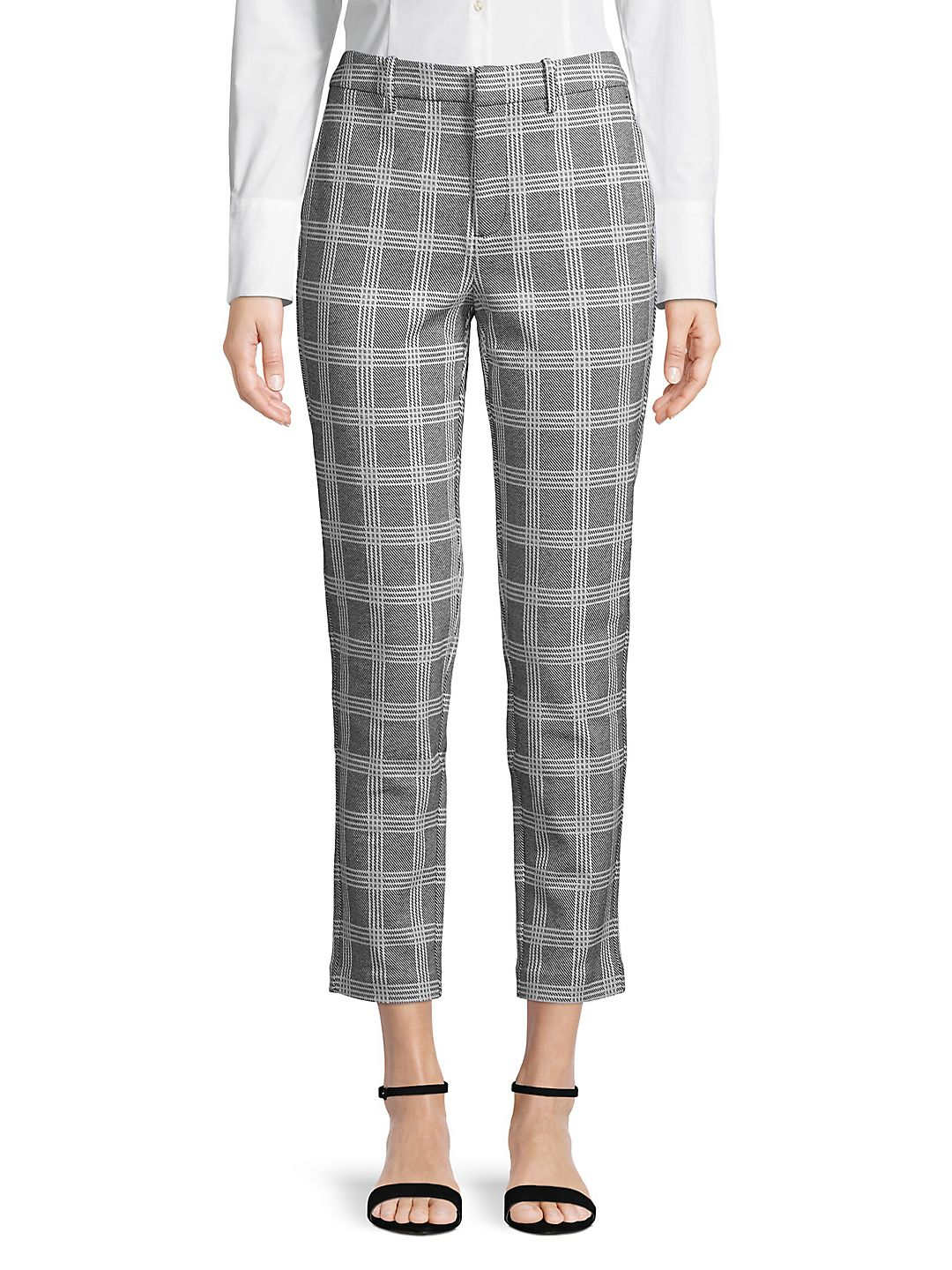 Plus Kelly Plaid Ponte Ankle Pant