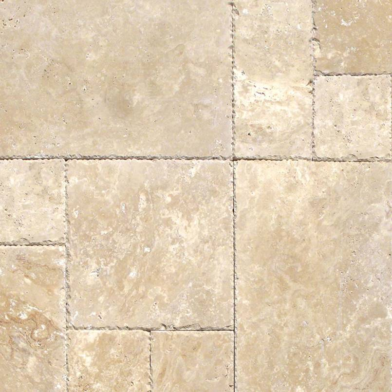 80 Sq Ft. Of  Tuscany Beige Versailles Pattern 16 Sqft/Box Honed Unfilled Chipped Brushed