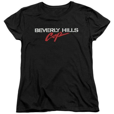 Beverly Hills Cop Logo Womens Short Sleeve Shirt
