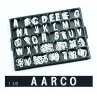 Universal Single Tab Changeable Letters AARHFD15