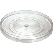 """InterDesign Linus Lazy Susan Turntable Spice Organizer Rack for Kitchen Pantry, Cabinet, Countertops, 11"""", Clear"""