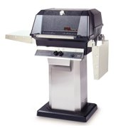 40000 BTU LP Gas Grill Head w Stainless Column & Patio Post Base
