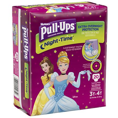 Huggies Pull-Ups Girls' NightTime Training Pants (Pack of 4)