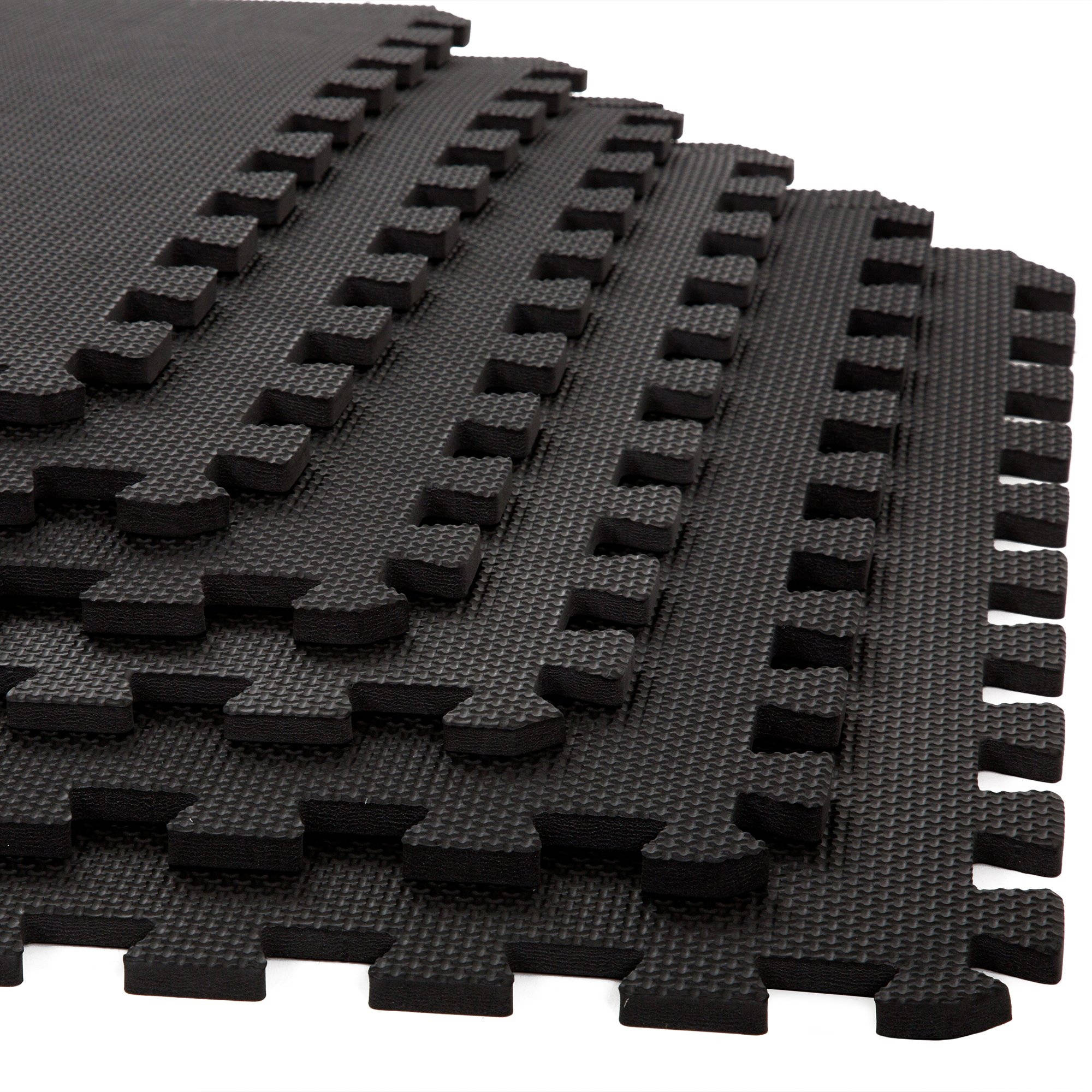 Stalwart 6-Pack Interlocking EVA Foam Floor Mats, 24x24x0.375