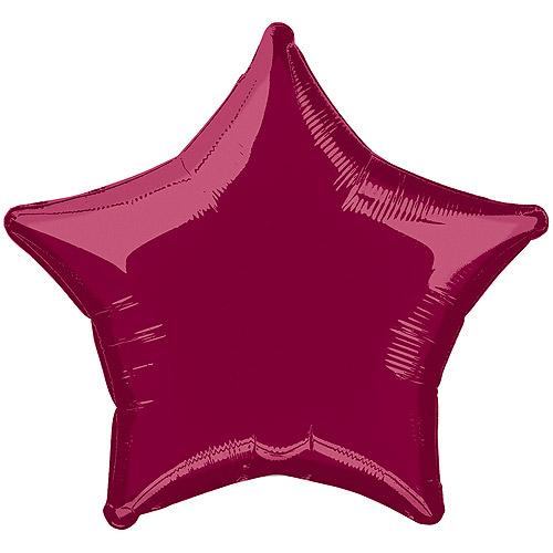 "20"" Foil Burgundy Star Balloon"