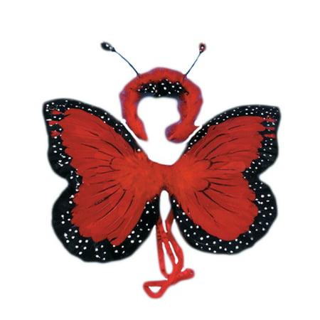 Loftus Butterfly Wings & Headband 2pc Accessory Kit, Red, 18in (Headband Kit)